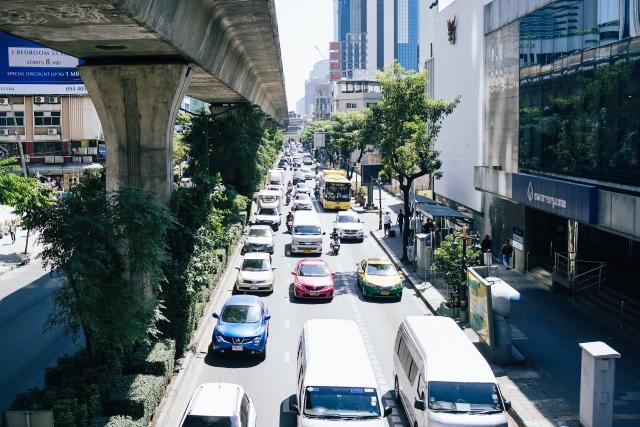 タイ・バンコクのスクンビット渋滞状況