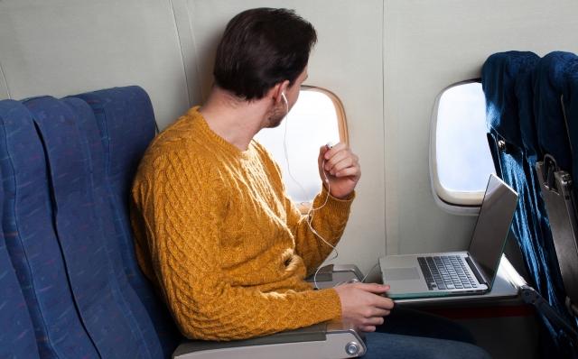 日本とタイまで機内で過ごす