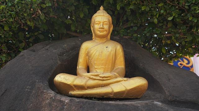 ソンクランでもともと水をかけていたタイの仏像