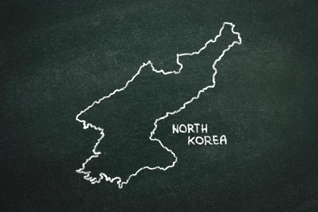 北朝鮮の国土イラスト