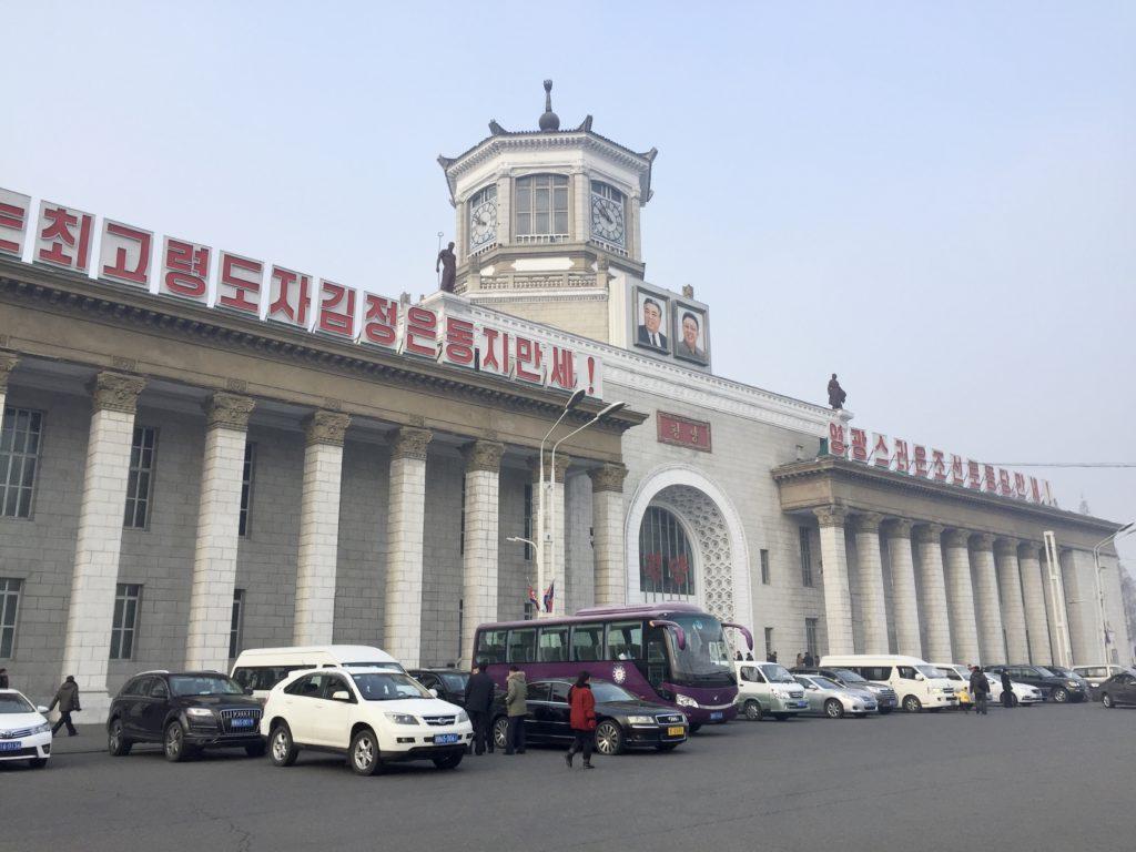 北朝鮮の昼間の平壌駅