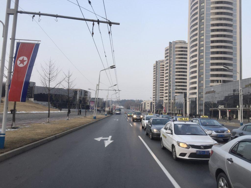 北朝鮮の平壌の道路