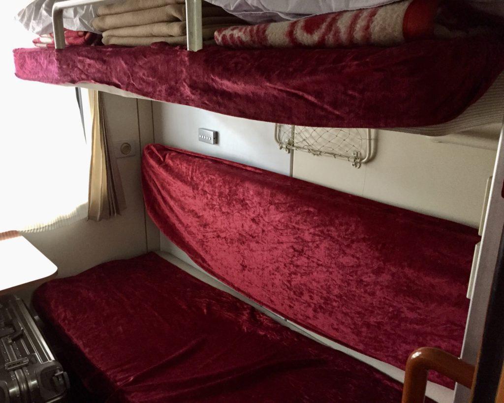 北朝鮮・平壌行き国際列車の寝台