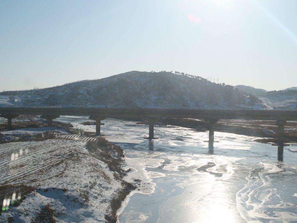 北朝鮮の田舎の風景