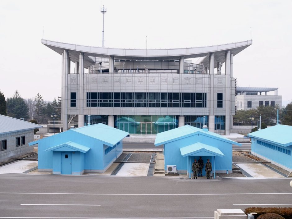 北朝鮮と韓国の国境地帯、板門店