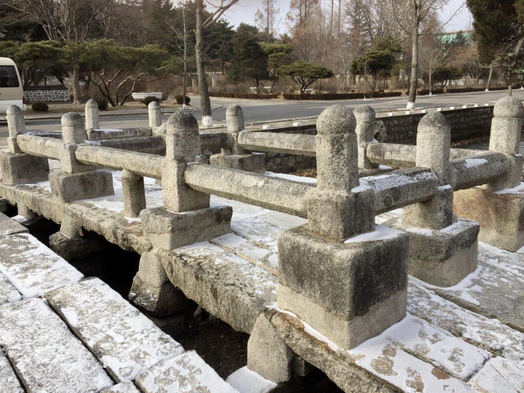 北朝鮮最古の石橋である開城市の善竹橋