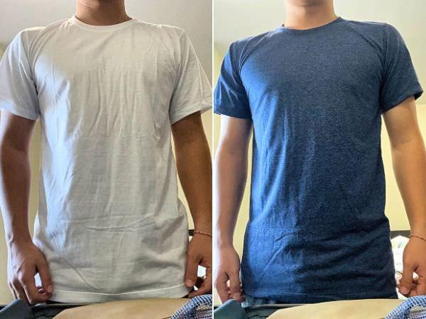 チャトゥチャックのTシャツ専門店「Just-T」で購入したTシャツを着用
