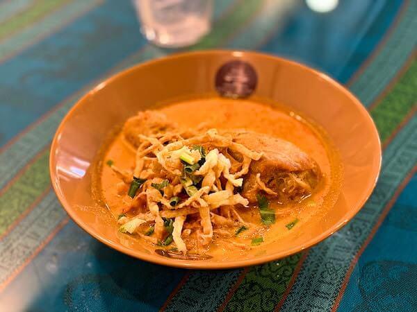 BTSバンジャークにあるカオソーイラムドゥアンで食べたカオソーイ