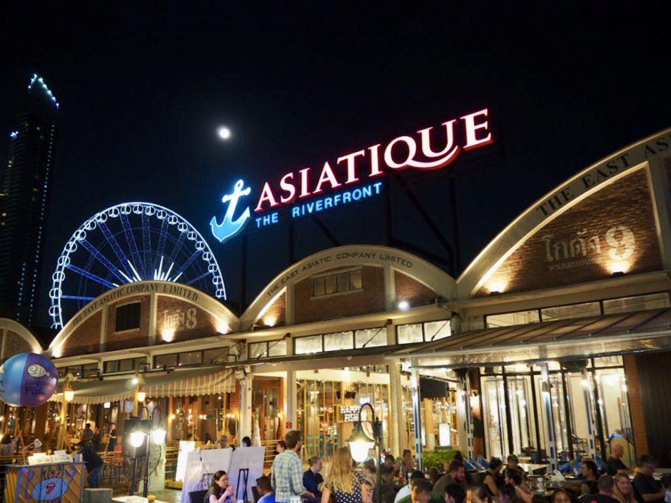 タイ・バンコク最大級のナイトマーケット「アジアティーク・ザ・リバーフロント」の正面入口