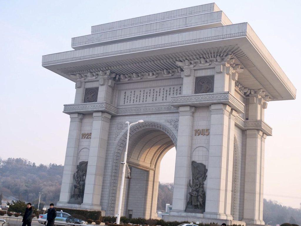 北朝鮮・平壌にある凱旋門