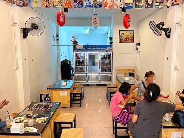 パタヤ・スクンビットの寿司屋「sushi Masi」の店内