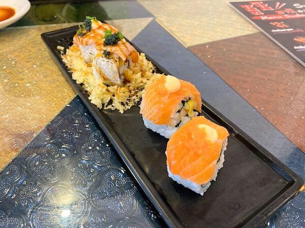 パタヤ・スクンビットの寿司屋「sushi Masi」で食べた巻物1