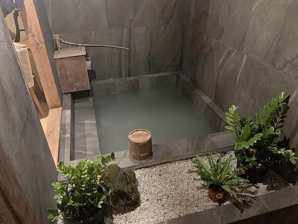 マユバンコクジャパニーズスタイルの部屋にある温泉