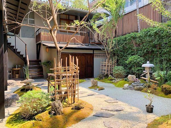 マユバンコクジャパニーズスタイルの庭園