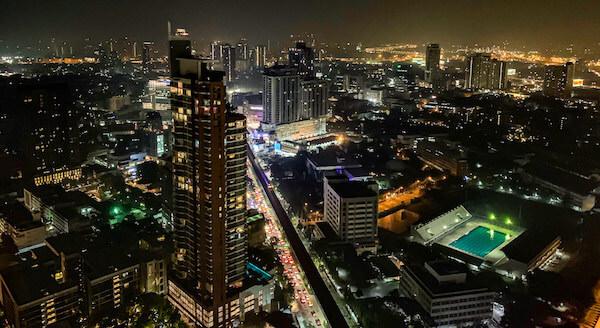 バンコクのオクターブ(Octave)から見える夜景