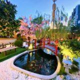 パタヤサードロードのスシローにある日本庭園