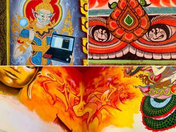 タイ寺院の壁画アイキャッチ画像