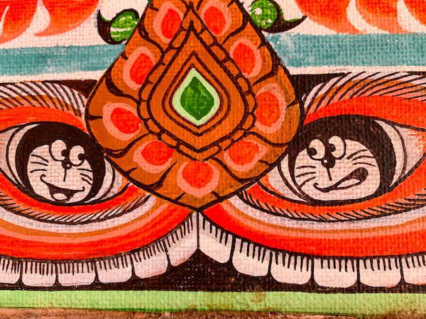 ワットサンパシウ仏堂内の壁画3