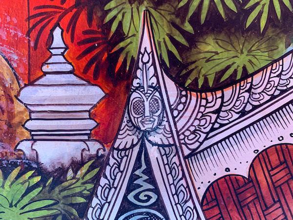 ワットサンパシウ仏堂内の壁画4