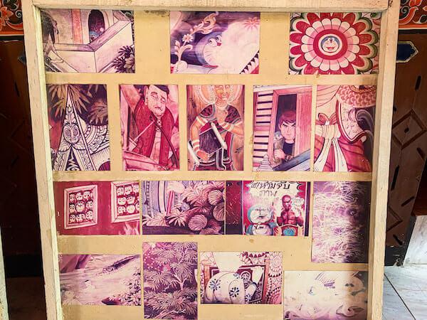 ワットサンパシウ仏堂内の壁画ヒント