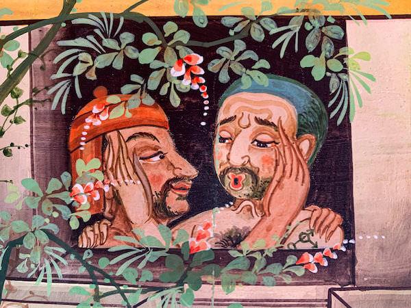 ワットサンパシウ仏堂内の壁画5