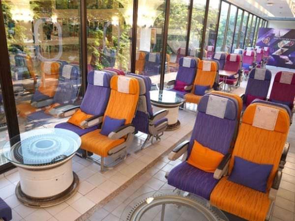バンコクにあるタイ航空のカフェ