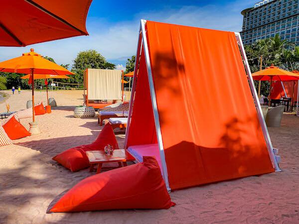 Z beach(ゼットビーチ)のテント席